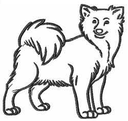 Icelandic Sheepdog embroidery design