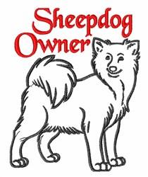Sheepdog Owner embroidery design