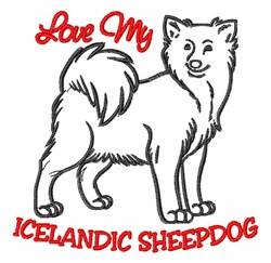 Icelandic Sheepdog embroidery design