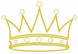 King Crown embroidery design