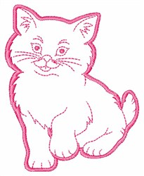 Kitten Outline embroidery design