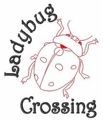 Ladybug Crossing embroidery design