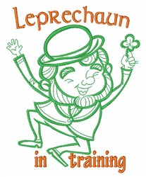 Leprechaun In Training embroidery design