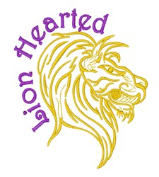 Lion Hearted embroidery design