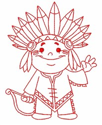 Little Indian embroidery design
