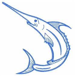 Marlin Swordfish embroidery design