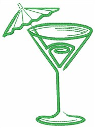 Martini Glass embroidery design