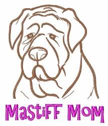 Mastiff Mom embroidery design