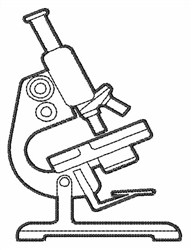 Microscope Outline embroidery design