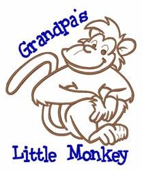 Little Monkey embroidery design