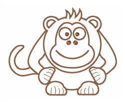 Monkey See embroidery design