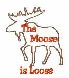 Moose Loose embroidery design