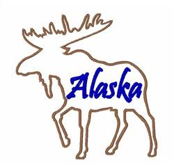 Moose Alaska embroidery design