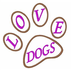 Love Dogs embroidery design