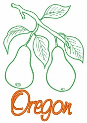 Pear Oregon embroidery design