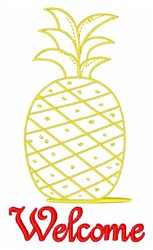 Welcome Pineapple embroidery design
