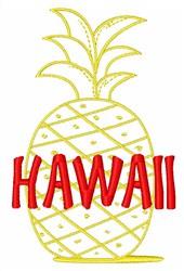 Hawaii Pineapple embroidery design