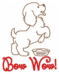 Bow Wow embroidery design