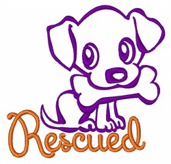 Rescued Puppy embroidery design