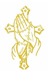 Rosary Hands embroidery design