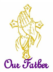 Our Father embroidery design