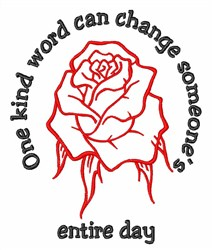 One Kind Word embroidery design