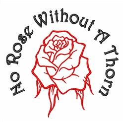 No Rose embroidery design