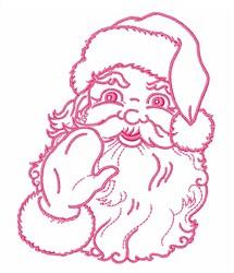 Christmas Santa Outline embroidery design