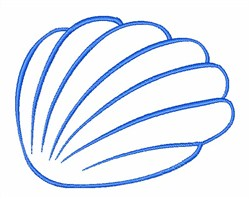 Shell Outline embroidery design