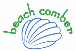 Beach Comber embroidery design