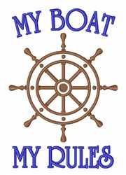 Boat Rules embroidery design