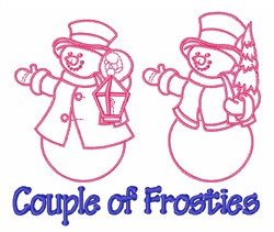 Couple of Frosties embroidery design