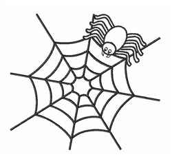Spider Web Outline embroidery design