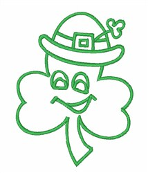 Shamrock Outline embroidery design