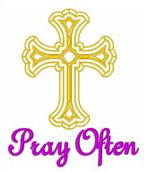 Pray Often embroidery design