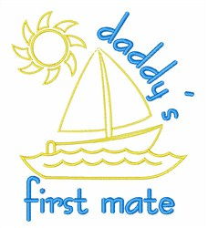 Daddys First Mate embroidery design