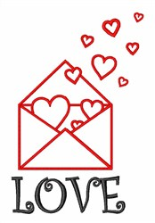 Love Letter Outline embroidery design