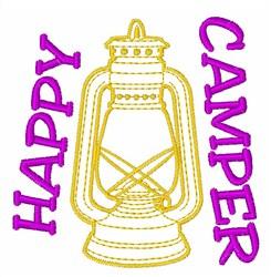 Happy Camper embroidery design