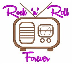 Rock n Roll embroidery design