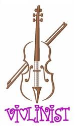 Violinist Instrument embroidery design