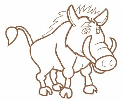 Razorback Hog embroidery design