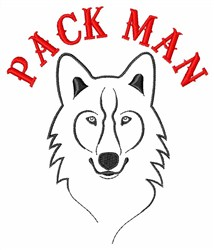 Pack Man embroidery design