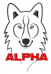 Alpha Wolf embroidery design