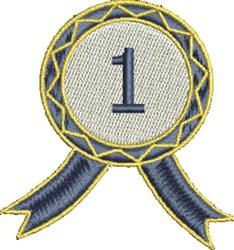 Blue Ribbon embroidery design