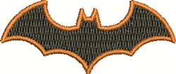 Bordered Bat embroidery design