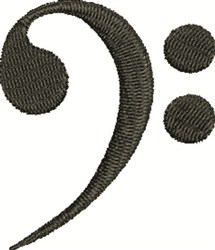 Bass Clef embroidery design