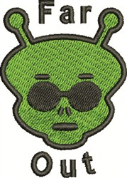 Far Out Martian embroidery design