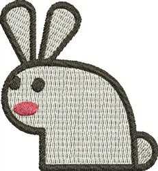 Abstract Rabbit embroidery design