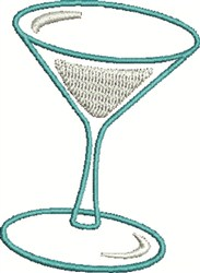Martini embroidery design