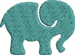 Small Elephant embroidery design